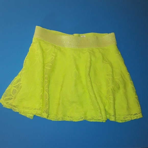 Justice Other - Lime Green Yellow Justice Skort Skirt Short SZ 12